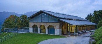 Blick auf die Dokumentation Obersalzberg in Berchtesgaden