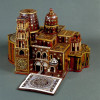 Modell der Grabeskirche in Jerusalem als Pilgerandenken Bethlehem 17./18. Jahrhundert Olivenholz mit Perlmuttintarsien