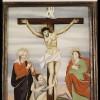 Kreuzigung mit Maria und Johannes Staffelsee, Oberbayern, um 1800 Hinterglasmalerei