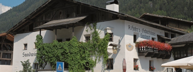 Der Sandhof im Südtiroler Passeiertal ist das Geburtshaus des Tiroler Volkshelden.