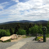 Auch vom Torfhaus hast du einen tollen Ausblick zum Brocken.