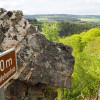 Eine der schönsten Wanderungen im Nationalpark Hunsrück-Hochwald führt auf den 510 Meter Hohenfels.
