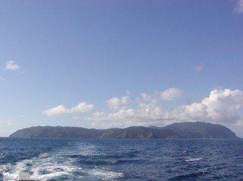 Blick auf die Kokosinsel