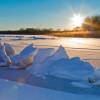 Genieße in den kalten Monaten die herrliche Winterlandschaft an der vereisen Müritz.