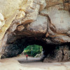 """Das Felsentor Kuhstall befindet sich in der Kernzone des Nationalparks, auf der vierten Etappe des """"Malerweges""""."""