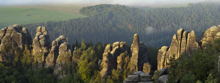 Die Schrammsteine waren bei den Malern der Romantik ein beliebtes Motiv.