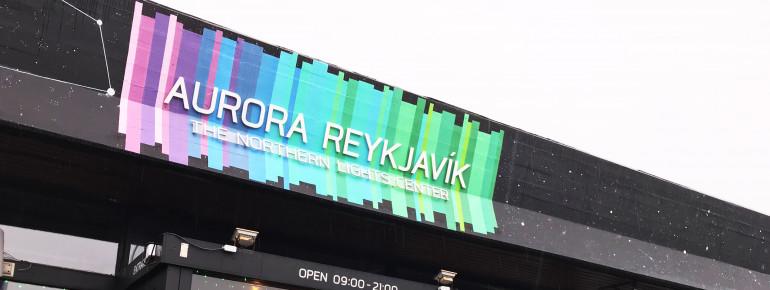 Das Nordlicht-Zentrum Aurora Reykjavík befindet sich in Hafennähe in der isländischen Hauptstadt.