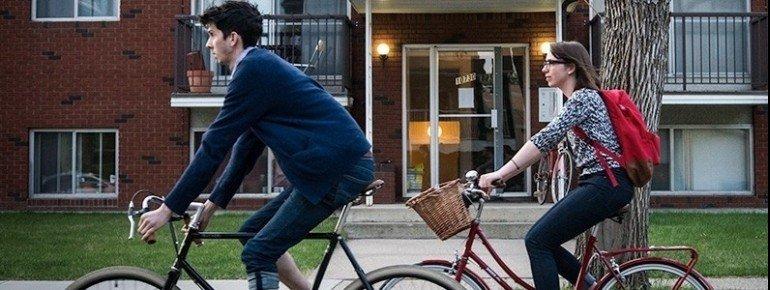 Radfahrer sind in Old Strathcona gut aufgehoben