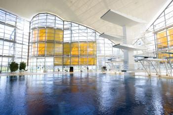 Die Schwimmhalle im Olympiapark