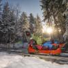 Der Alpine Coaster hat auch im Winter geöffnet.