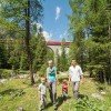 Der Bahnerlebnisweg Albula entlang des UNESCO Welterbe RhB