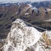 Blick auf den Peak Walk by Tissot und den Scex Rouge am Glacier 3000.