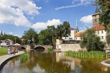Der Wasserkanal und gleichnamige Park Mlýnská strouha