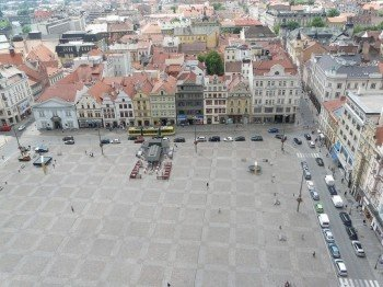 Der Platz der Republik von oben