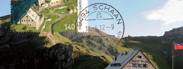 Die Pfälzerhütte als Briefmarkenmotiv