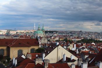 Von hier oben hat man einen wunderbaren Blick über Prag.