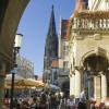 Der Prinzipalmarkt mit Lambertikirche im Hintergrund.