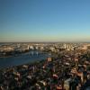 Von der Aussichtsplattform im 50. Stock hast du einen einzigartigen Ausblick auf ganz Boston.