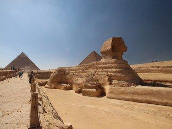 Heute sind die Pyramiden das Wahrzeichen Ägyptens
