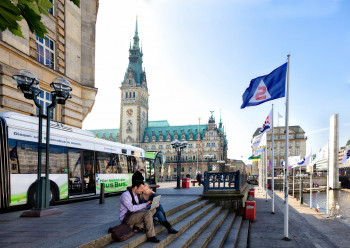 Das Rathaus von Hamburg