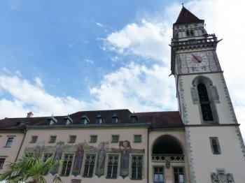 Das Alte Rathaus ist im venezianischen Stil gestaltet.