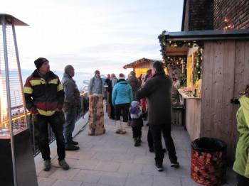 Die Bergweihnacht befindet sich direkt an der Bergstation der Rauschbergbahn.