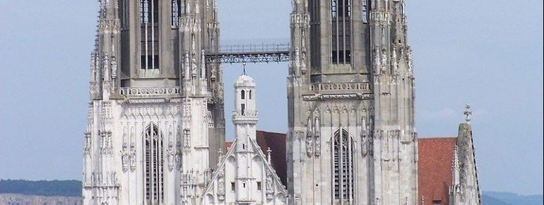 Die zwei Türme des Regensburger Doms