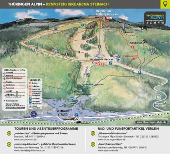 Übersichtskarte Rennsteig Bikearena Steinach