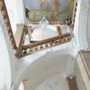 Das Treppenhaus ist ein architektonisches Highlight.