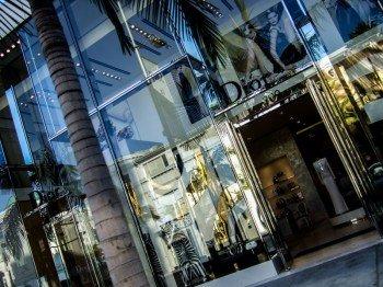 Zahlreiche Luxus-Marken haben hier ihre Stores