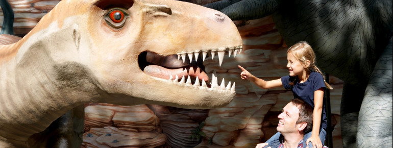 Der Fokus des Saurierparks liegt auf der spielerischen Vermittlung von Wissen rund um Dinosaurier.