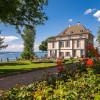 Blick auf das Schloss Arenenberg