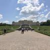 Der Schlossgarten ist symmetrisch angelegt.
