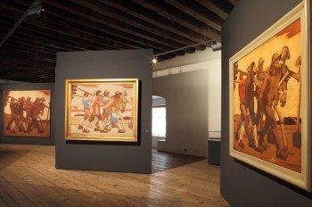 Der Maler Albin Egger-Lienz setzt sich in seinen Werken auch mit dem Krieg auseinander