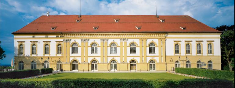 Der Südwestflügel ist der einzige erhaltene Teil des ehemaligen vierflügeligen Renaissance-Schlosses.