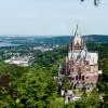 Vom Nordturm genießt du einen herrlichen Ausblick über die Rheinschleife.