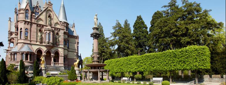 Die Drachenburg ist ein Mix aus Schloss, Burg und Villa.