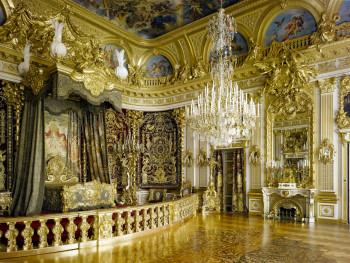 Das Paradezimmer im Schloss Herrenchiemsee.