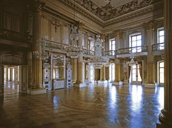 Der Goldene Saal gehört zu den neu konzipierten Räumen im Ostflügel des Schlosses.