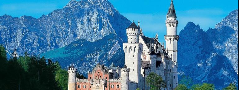 Außenansicht des Schloss Neuschwanstein
