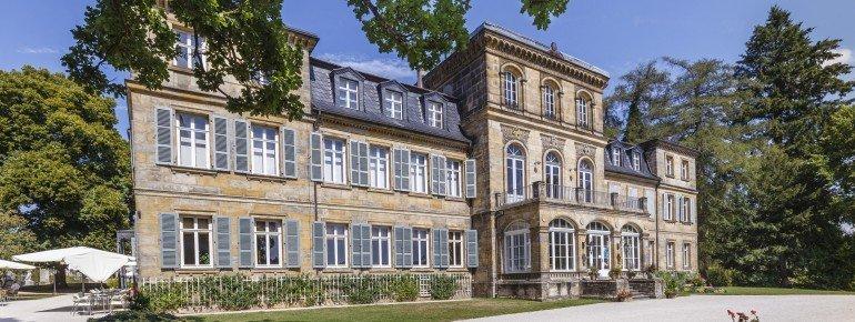Außenansicht des Schloss Fantaisie in Eckersdorf/Donndorf bei Bayreuth.