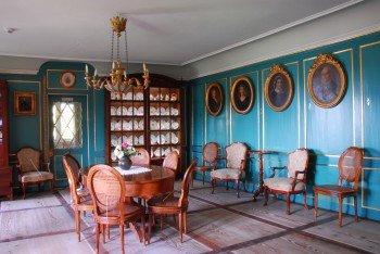 Der Blaue Salon des Schloss Wildegg
