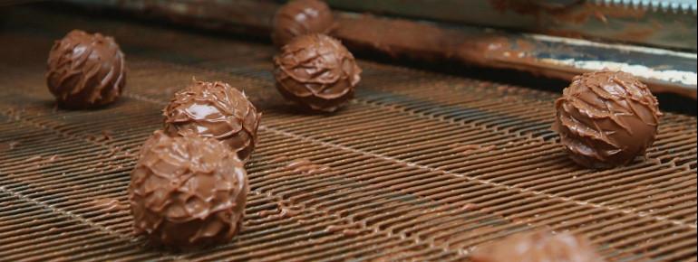 Trüffelherstellung im Schokoladenmuseum Köln