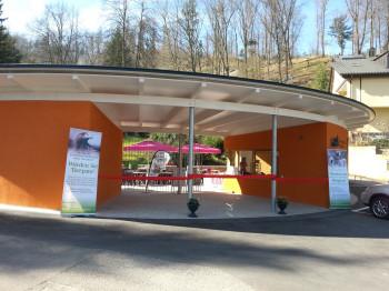 Der Eingangsbereich zum Zoo.
