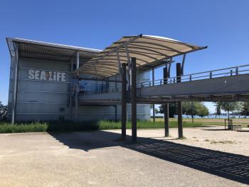 Das SeaLife in Konstanz liegt direkt am Ufer des Bodensees.