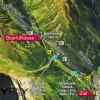 Die Skyfly Strecke in Ischgl.