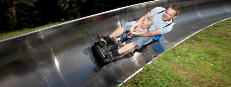 Die Sommerrodelbahn am Zahmen Kaiser in Walchsee/Durchholzen ist ein beliebtes Ausflugsziel bei Familien.