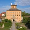 Die Stiftbibliothek Zeitz befindet sich im Torhaus am Schloss Moritzburg.