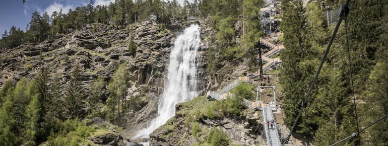 Der Stuibenfall im Ötztal ist der höchste Wasserfall Tirols.