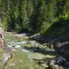 Malerisch plätschert die Brandenberger Ache unterhalb des engen Steigs entlang.